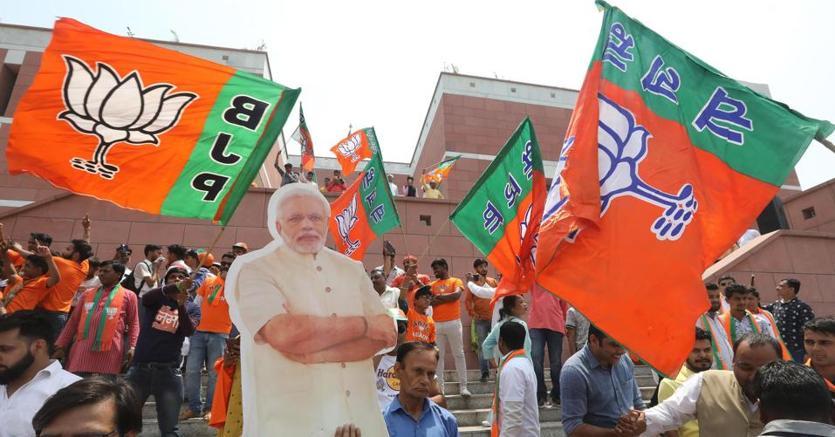 Sostenitori del premier uscente Narendra Modi
